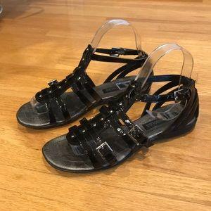 Enzo Angiolini Black patten Sandal.